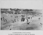Le Champ-de-Mars a Port-au-Prince ; La foule a l'inauguration de la statue de Dessalines