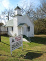 Pikeville Chapel AME Zion Church: front view and sign