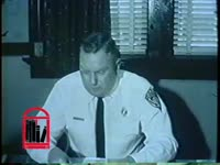 WSB-TV newsfilm clip of Laurie Pritchett, Albany police chief, speaking to reporters about the arrest of freedom riders in Albany, Georgia, 1961 December 10