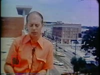 WSB-TV newsfilm clip of reporter Jim Whipkey commenting on a civil rights demonstration in Columbus, Georgia, 1971 July 31