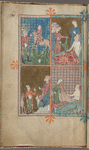 Full-page miniature with four scenes