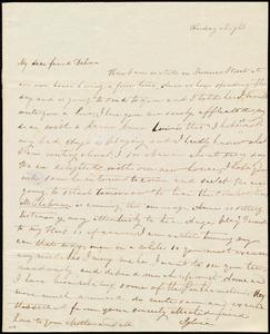 Letter from Sylvia Ann Ammidon, [Summer Street, Boston], to Deborah Weston, Friday Night, [1841?]