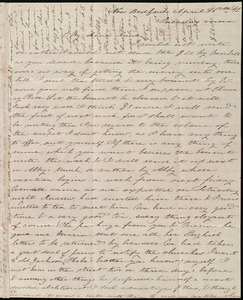 Letter from Deborah Weston, New Bedford, [Mass.], to Anne Warren Weston, April 26th, [18]42, Tuesday morn