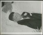 Man in coffin, unknown