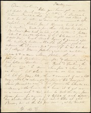 Incomplete letter to] Dear Caroline [manuscript