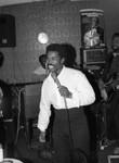 Man at Microphone, Los Angeles, 1986