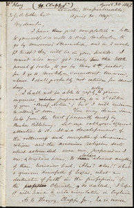 Letter from Samuel May, Leicester, Massachusetts, to John Bishop Estlin, April 30, 1847