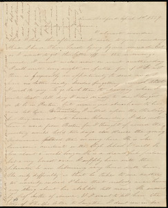 Letter from Deborah Weston, New Bedford, [Mass.], to Anne Warren Weston, April 1st, 1839