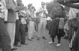 """Fannie Lou Hamer singing to a group of people during the """"March Against Fear"""" through Mississippi, begun by James Meredith."""