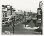 Seventh Avenue, looking north from West 125th Street, in Harlem, New York City, 1934