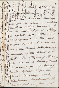 Letter from James Miller M'Kim, Phil[adelphi]a, [Pa.], to William Lloyd Garrison, Oct[ober] 19th [1863]