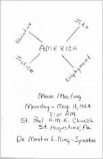 Mass Meeting : Martin Luther King Speaks at St. Paul A.M.E. Church