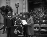 Presentation during Negro Week, Los Angeles, 1963