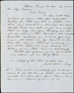 Letter from Jacob Walton, Adrian, Lenawee C[ounty], Mich[igan], to William Lloyd Garrison, 1853 Sept[ember] 9