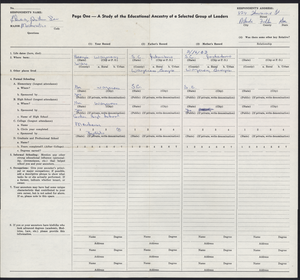 Student family histories: Edwards, Arthur