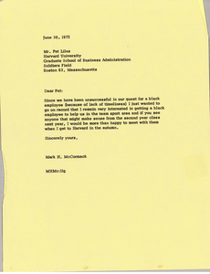 Letter from Mark H. McCormack to Patrick R. Liles