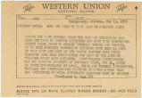 Telegram from Governor George C. Wallace to the members of the Alabama congressional delegation in Washington, D.C.
