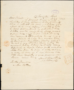 Letter from David Brent Price, 29 Farringdon Street, [London, England], to William Lloyd Garrison and Lucretia Mott