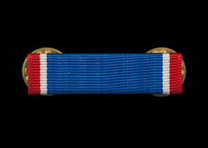 Distinguished Service Cross medal ribbon bar issued to Lewis Broadus