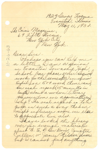 Letter from Mary Ellen Marshall to The Crisis