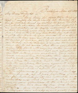 Letter from Samuel Joseph, Brooklyn, [Connecticut], to William Lloyd Garrison, 1831 Mar[ch] 26