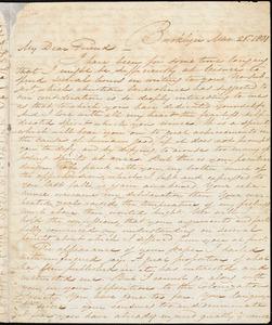 Thumbnail for Letter from Samuel Joseph, Brooklyn, [Connecticut], to William Lloyd Garrison, 1831 Mar[ch] 26