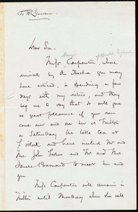 Letter from William Robert Ware, Boston, [Mass.], to William Lloyd Garrison, May 9. 1873