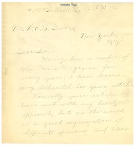 Letter from Mitchel T. Douglass to W. E. B. Du Bois