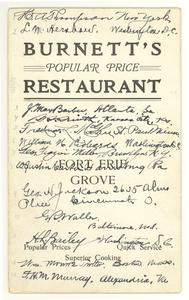 Thumbnail for Burnnett's Popular Price Restaurant