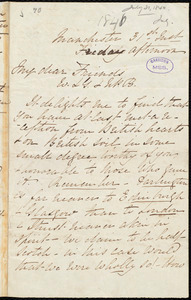 Letter from Elizabeth Pease Nichol, Manchester, [England], to William Lloyd Garrison and Nathaniel Peabody Rogers, 31st July [1840]