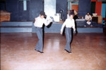 Two young male tap dancers