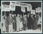 Protestors demand freedom for the Hollywood Ten, Los Angeles, 1950