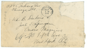 Letter from Alfred D. Blackburn to W. E. B. Du Bois and Joel E. Spingarn