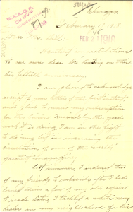 Letter from T. C. King to Augustus Granville Dill