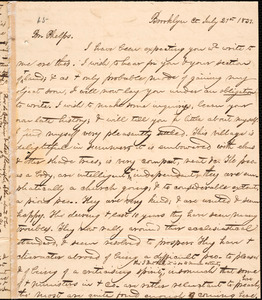 Letter from George Jeffrey Tillotson, Brooklyn, [Conn.], to Amos Augustus Phelps, 1831 July 21st