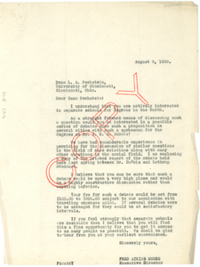 Letter from The Chicago Forum Council to Louis A. Pechstein