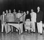 Musician Lionel Hampton and band
