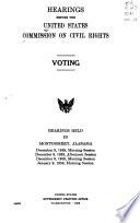 Voting; hearings...