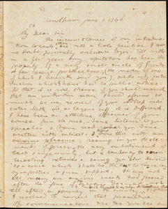 Letter from William Warren, Windham, [Maine], to Amos Augustus Phelps, 1846 June 1