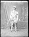Full length front view of Kickapoo man 1904