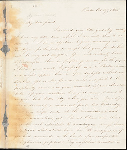 Letter from Samuel Edmund Sewall, Boston, [Massachusetts], to William Lloyd Garrison, 1835 Oct[ober] 27