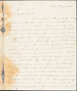 Letter from Samuel Edmund Sewall, Boston, [Massachusetts], to William Lloyd Garrison, 1835 Oct[ober] 27