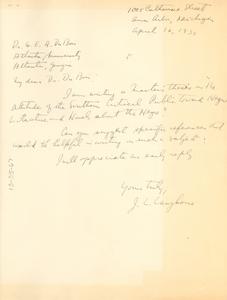 Letter from Joseph L. Langhorne to W. E. B. Du Bois