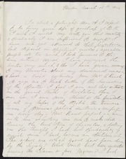 In about a fortnight dear A I expect to be living your life of quietness at B. H. [manuscript]
