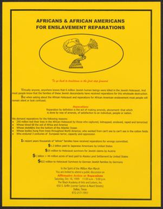 Africans & African Americans for Enslavement Reparations