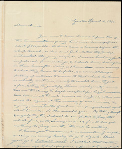Letter from Amos Farnsworth, Groton, [Mass.], to Anne Warren Weston, April 4, 1842