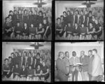 Set of negatives by Clinton Wright including Pi Tau Sigma, Mrs. Cook, Sharlott, The Elks Lodge, the Kalpher's, Mrs. Toms Sorority, and Gama Phi Delta, 1964