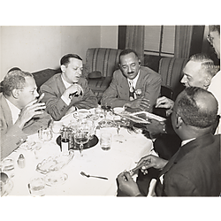 Howard McKinney, founder of Hill City, with Judge William H. Hastie and others