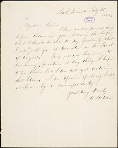 Letter from Caleb Stetson, South Scituate, [Massachusetts], to Samuel May, [1850] July 25