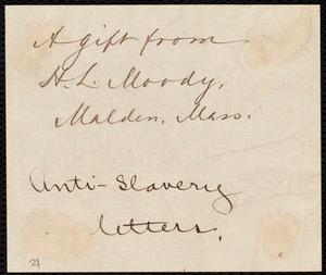 Letter from William Lloyd Garrison, Boston, [Mass.], to Robert Purvis, Dec. 10, 1832